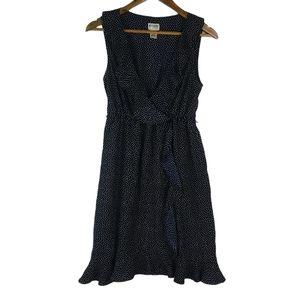 Motherhood Dark Navy Dot Ruffle Dress M
